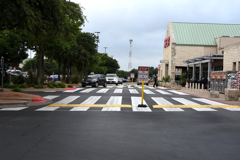 asphalt maintenance grocery store parking lot after