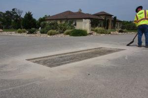 road repair at HOA - pothole patching