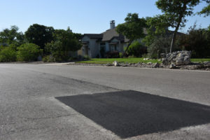 finished pothole repair at HOA