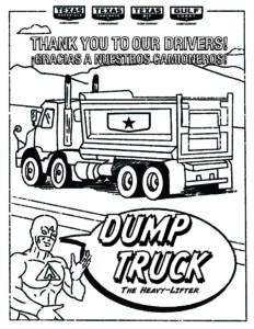texas paving company dump truck coloring page