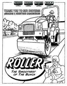 texas paving company roller coloring page